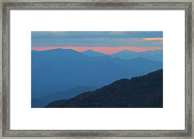 Sunset Over Blue Ridge Framed Print by Dan Sproul