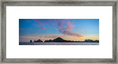 Sunset Over Cabo Framed Print by Sebastian Musial