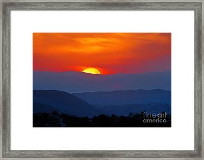 Sunset Over California Framed Print