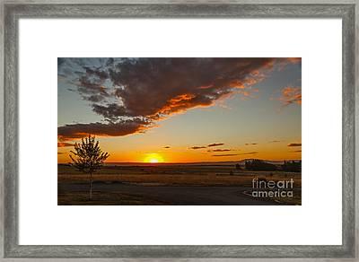 Sunset Over Camas Prairie  Framed Print