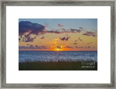 Sunset Over Cape Cod Bay Framed Print