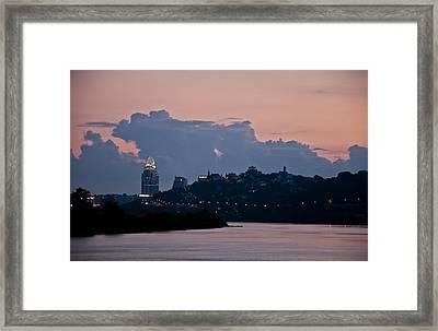 Sunset Over Cincinnati Framed Print