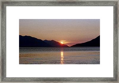 Sunset Over Cook Inlet Alaska Framed Print