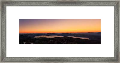 Sunset Over Crater Lake Framed Print by Jaime Weatherford
