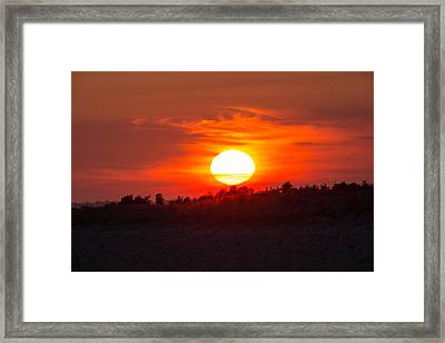 Sunset Over Dead Neck Framed Print by Allan Morrison