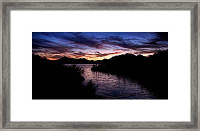 Sunset Over Desert Waters Framed Print
