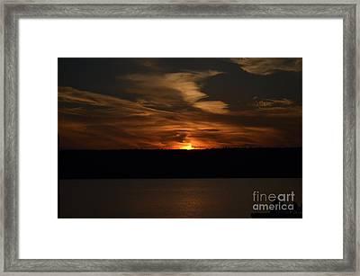 Sunset Over Door County  Framed Print