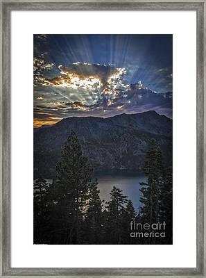 Sunset Over Fallen Leaf Lake Framed Print