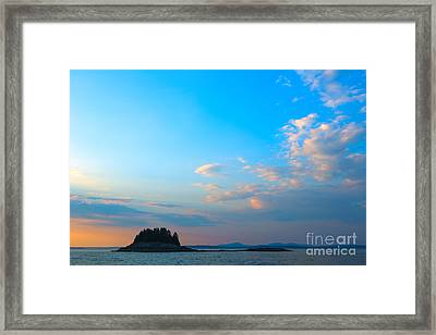 Sunset Over Frenchman Bay Framed Print by Diane Diederich