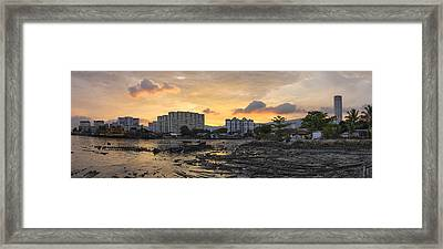 Sunset Over Georgetown Penang Malaysia Framed Print