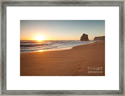 Sunset Over Gibson Steps Beach Australia Framed Print by Matteo Colombo