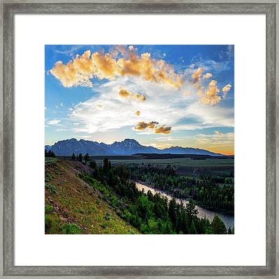 Sunset Over Grand Teton National Park Framed Print