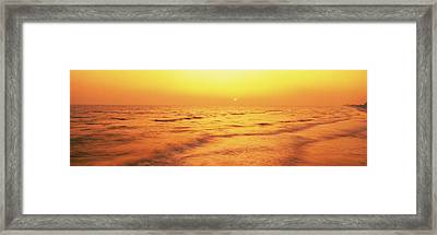 Sunset Over Gulf Of Mexico, Panama City Framed Print by Panoramic Images
