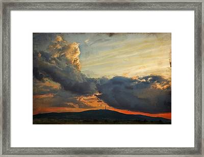 Sunset Over Holy Cross Mountains Framed Print by Anna Gora
