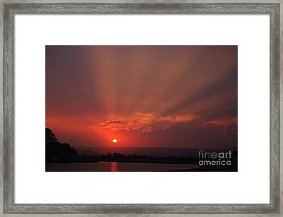 Sunset Over Hope Island 2 Framed Print by Blair Stuart