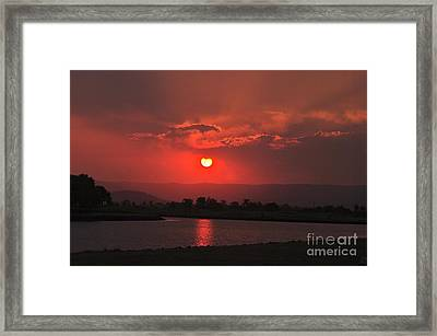 Sunset Over Hope Island Framed Print