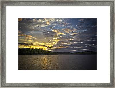 Sunset Over Kerr Lake Framed Print