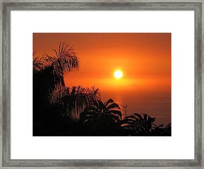 Sunset Over Kona Hawaii Framed Print by Sabine Edrissi