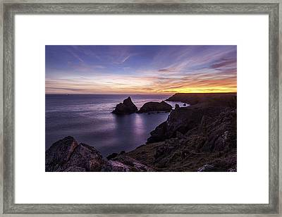 Sunset Over Kynance Cove Framed Print