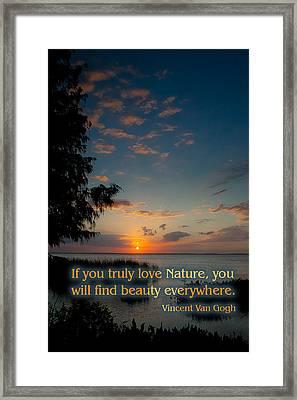 Sunset Over Lake Apopka Framed Print