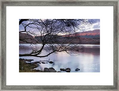Sunset Over Lake Dinas Framed Print