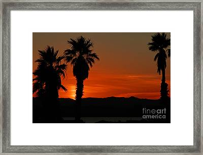Sunset Over Lake Havaus   Framed Print