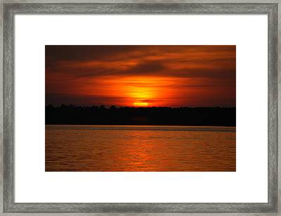 Sunset Over Lake Martin Framed Print