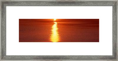 Sunset Over Lake, Michigan Framed Print by Panoramic Images