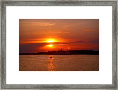 Sunset Over Lake Ozark Framed Print
