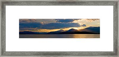 Sunset Over Lake Pend Oreille Framed Print by Marie-Dominique Verdier