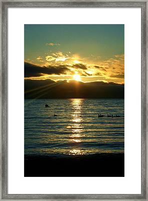 Sunset Over Lake Tahoe Framed Print
