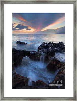 Sunset Over Lanai Framed Print by Mike  Dawson