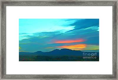 Sunset Over Las Vegas Hills Framed Print by John Malone