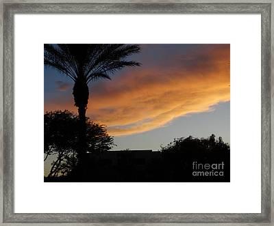 Sunset Over Las Vegas  Framed Print