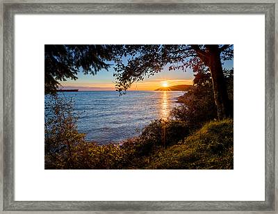 Sunset Over Lighthouse Park Framed Print