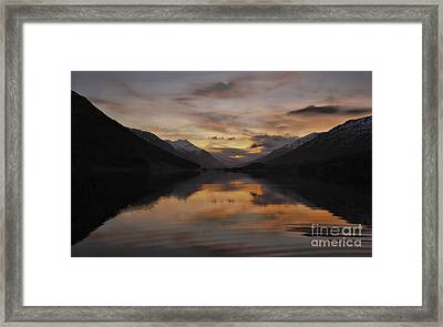 Sunset Over Loch Doine Framed Print by Buster Brown