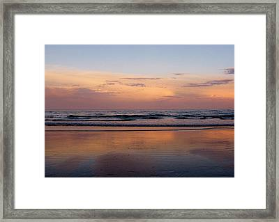 Sunset Over Long Sands Beach II Framed Print