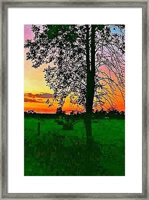Framed Print featuring the photograph Sunset Over M-33 by Daniel Thompson