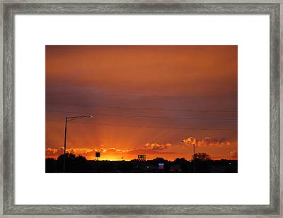 Framed Print featuring the photograph Sunset Over Madison by Ramona Whiteaker