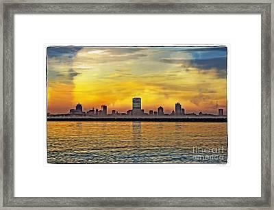 Sunset Over Milwaukee Framed Print