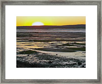 Sunset Over Minas Basin In Fundy Bay Near Grand Pre-ns Framed Print by Ruth Hager