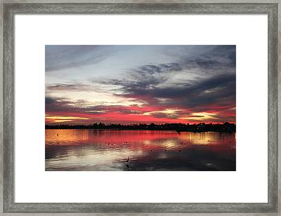Framed Print featuring the photograph Sunset Over Mission Bay  by Christy Pooschke