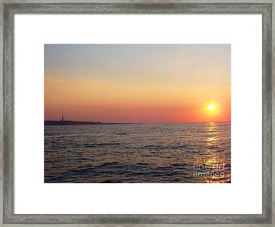 Sunset Over Montauk Framed Print