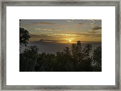 Sunset Over Montseratt Framed Print