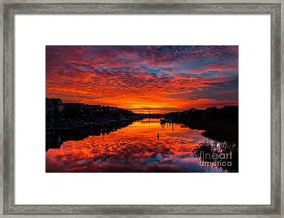 Sunset Over Morgan Creek - Wild Dunes Resort Framed Print
