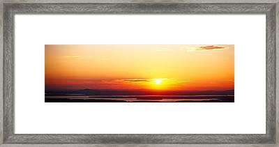 Sunset Over Mountain Range, Cadillac Framed Print