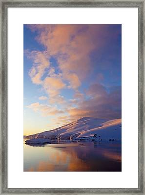 Sunset Over Mountains Lemaire Channel Framed Print by Erik Joosten
