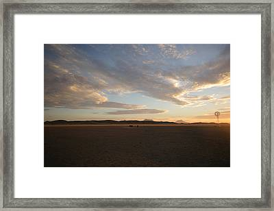 Framed Print featuring the photograph Sunset Over Namibia by Riana Van Staden