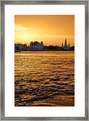 Sunset Over New Orleans Framed Print by Patricia Sanders