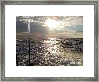 Sunset Over Nj After Fishing Framed Print by John Telfer